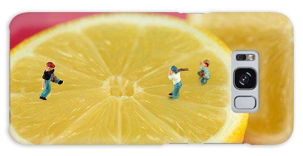 Playing Baseball On Lemon Galaxy Case by Paul Ge