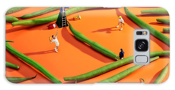 Playing Tennis Among French Beans Little People On Food Galaxy Case