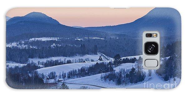 Pleasant Valley Winter Twilight Galaxy Case by Alan L Graham