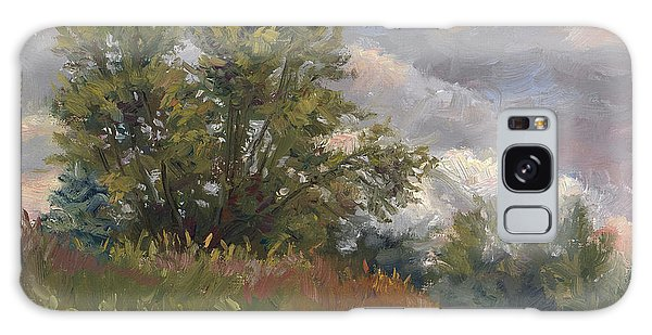 Outdoors Galaxy Case - Plein Air - Near The Chicopee River by Lucie Bilodeau