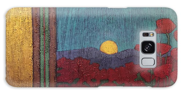 Plentiful Vista With Poppies Galaxy Case
