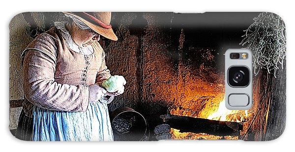 Plimoth Plantation  Pilgrim Fireplace Cooking Galaxy Case by Constantine Gregory