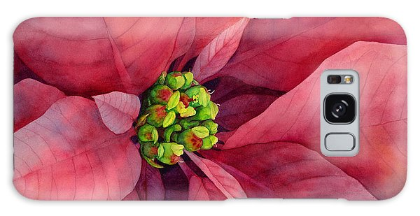 Bloom Galaxy Case - Plum Poinsettia by Hailey E Herrera
