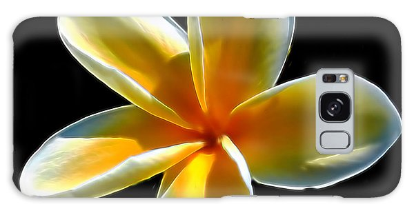 Plumeria Against Black Galaxy Case