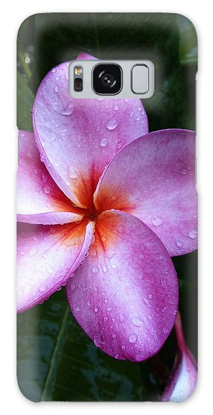 Plumeria With Raindrops Galaxy Case