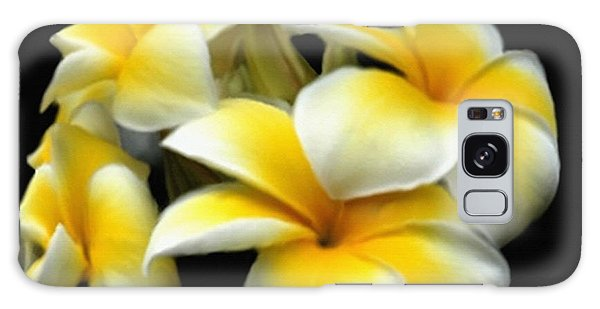 Plumeria Yellow And White Galaxy Case