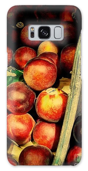 Plums And Nectarines Galaxy Case by Miriam Danar