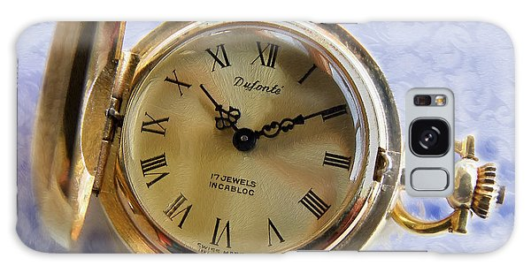 Pocket Watch On Brocade Galaxy Case