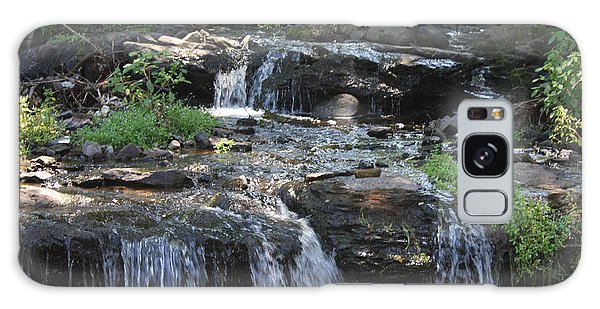 Poconos Waterfall Stream Galaxy Case by John Telfer
