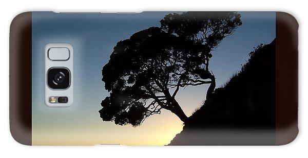 Pohutukawa Trees At Sunrise Galaxy Case by Peter Mooyman