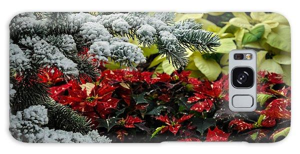Poinsettia Garden Galaxy Case