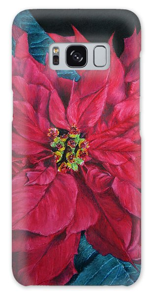 Poinsettia II Painting Galaxy Case