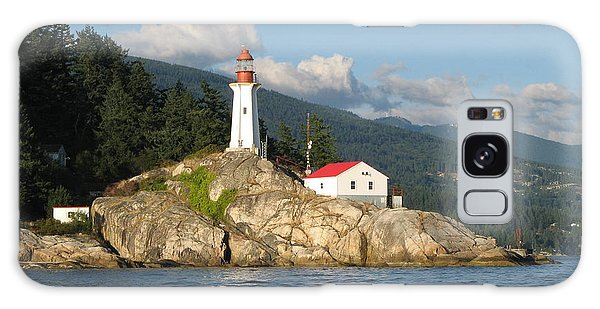 Point Atkinson Lighthouse Galaxy Case by Brian Chase