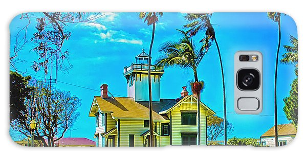 Point Fermin Lighthouse Galaxy Case by Joseph Hollingsworth