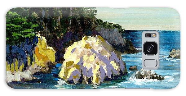 Otter Rock Galaxy Case - Point Lobos Rock by Alice Leggett