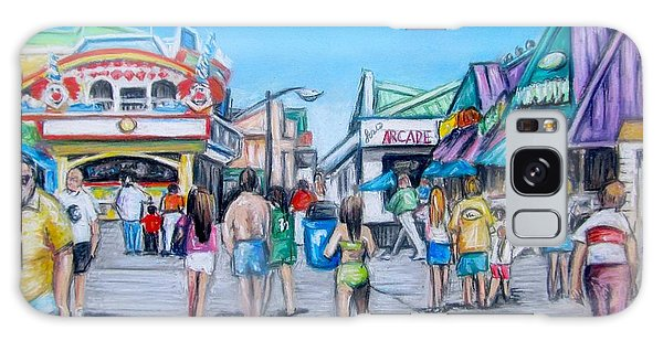 Point Pleasant Beach Boardwalk Galaxy Case by Melinda Saminski