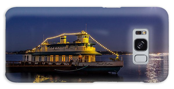 Point Ruston Visitor Center Ship At Night Galaxy Case
