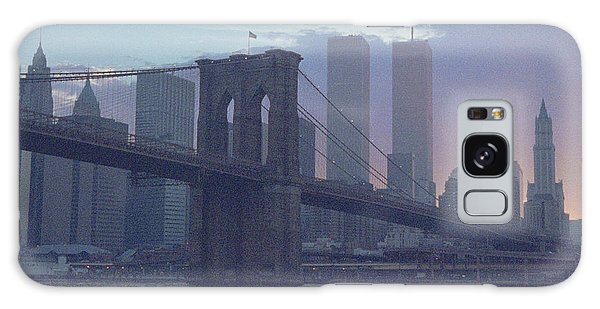 Pointillistic Brooklyn Bridge Lower Manhattan Galaxy Case
