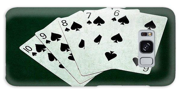 Poker Hands - Straight Flush 1 Galaxy Case by Alexander Senin
