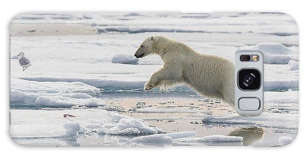 Polar Bear Jumping  Galaxy Case