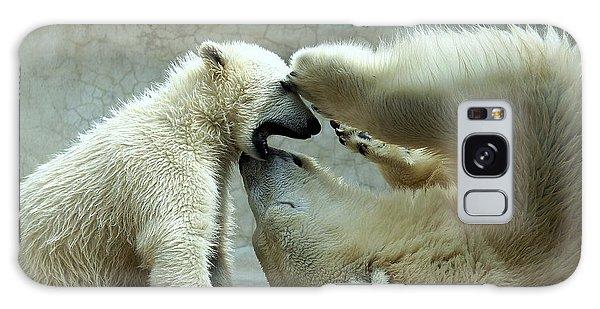 Polar Bear Mom And Cub Galaxy Case
