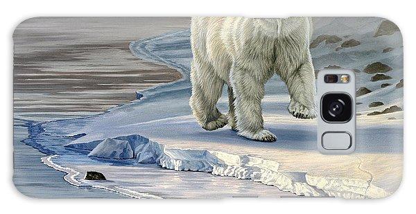 Polar Bear Galaxy S8 Case - Polar Bear On Icy Shore    by Paul Krapf