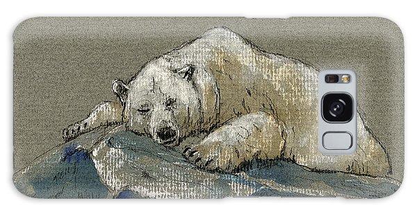 Polar Bear Galaxy S8 Case - Polar Bear Sleeping by Juan  Bosco