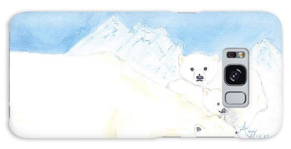 Polar Bears Galaxy Case by Ann Michelle Swadener