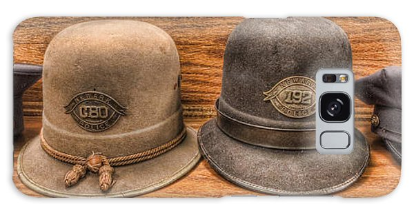 Police Officer - Vintage Police Hats Galaxy Case