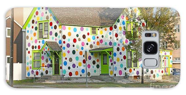 Polka Dot House Galaxy Case by Steve Augustin