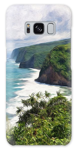 Pololu Valley Beach Galaxy Case