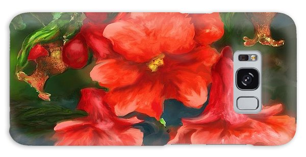 Pomegranate Blooms Floral Painting Galaxy Case