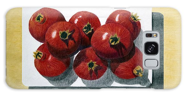 Pomegranates On A Plate Galaxy Case