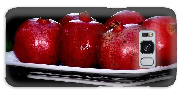 Pomegranates On White Platter Galaxy Case by Tanya  Searcy