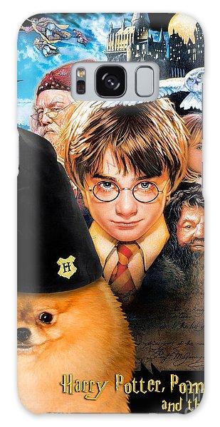 Pomeranian Art Canvas Print - Harry Potter Movie Poster Galaxy Case