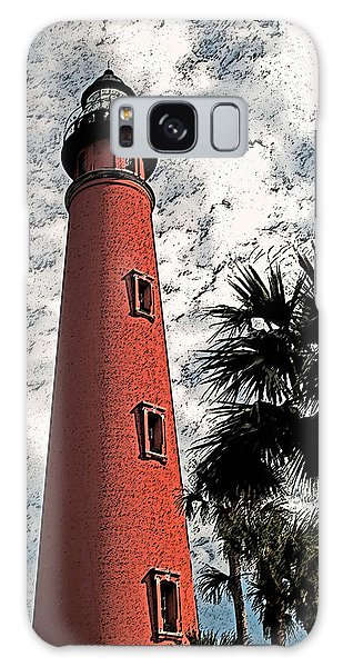 Ponce Lighthouse Artistic Brush Galaxy Case