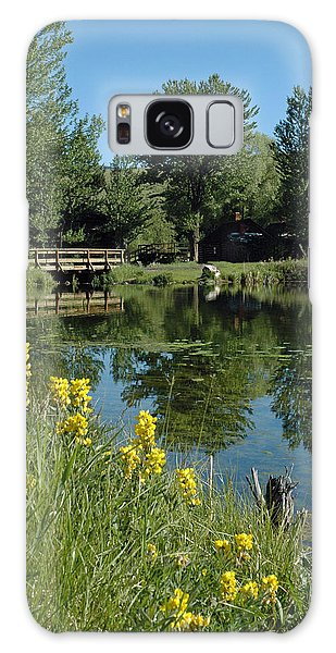 Pond And Bridge At Virginia City Montana Galaxy Case