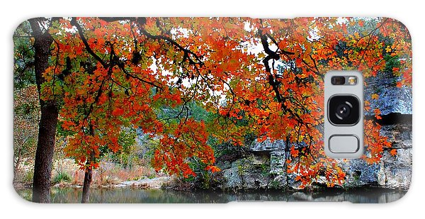 Fall At Lost Maples State Natural Area Galaxy Case