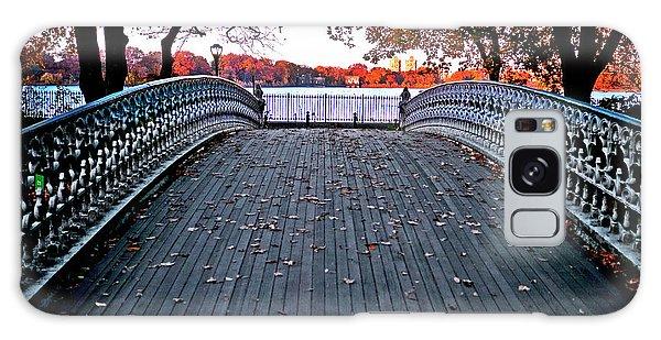 Pond Footbridge Galaxy Case