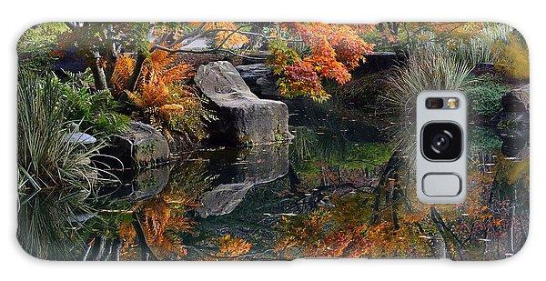 Pond In Autumn Galaxy Case