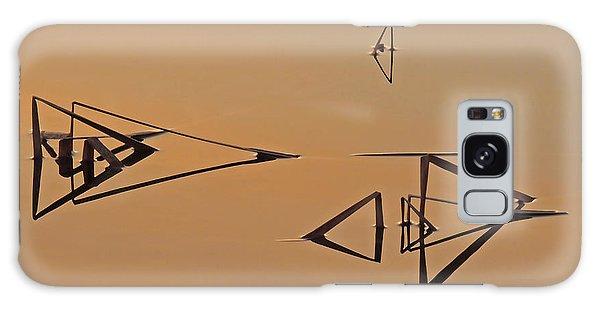 Pond Reeds Sunrise 3 Galaxy Case