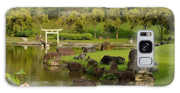 Pond Rocks Grass And Japanese Arch Singapore Galaxy Case