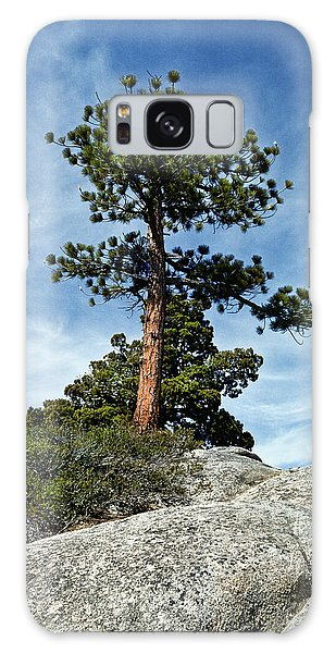 Ponderosa Pine And Granite Boulders Galaxy Case by Jeff Goulden