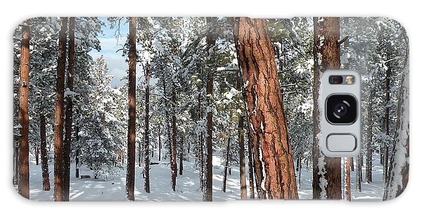 Ponderosa Winter Galaxy Case by Jennifer Lake
