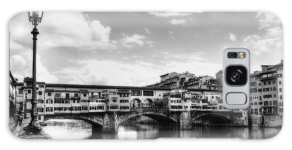 Ponte Vecchio At Florence Italy Bw Galaxy Case