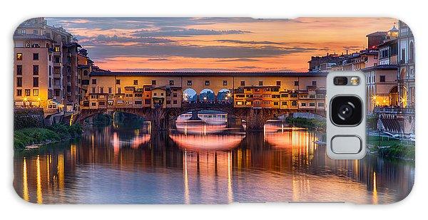 Ponte Vecchio At Sunset Galaxy Case