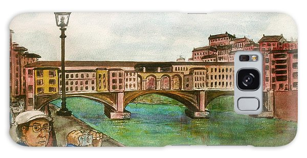 Ponte Vecchio Florence Italy Galaxy Case by Frank Hunter