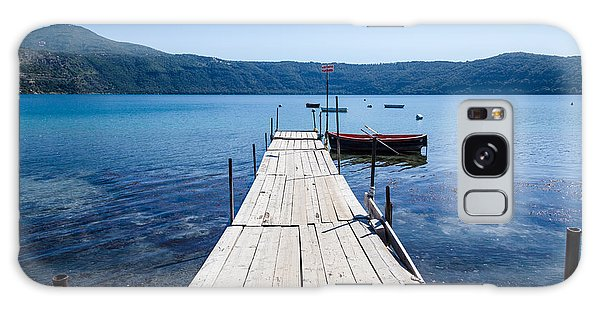 Pontoon With Rowing Boat On Lake Albano Lazio Italy Galaxy Case