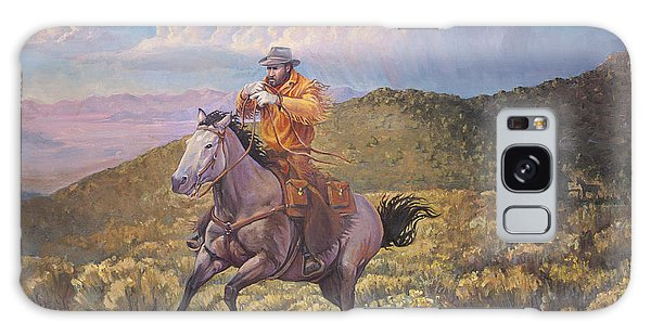 Pony Express Rider At Look Out Pass Galaxy Case