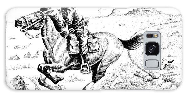Pony Express Rider Galaxy Case